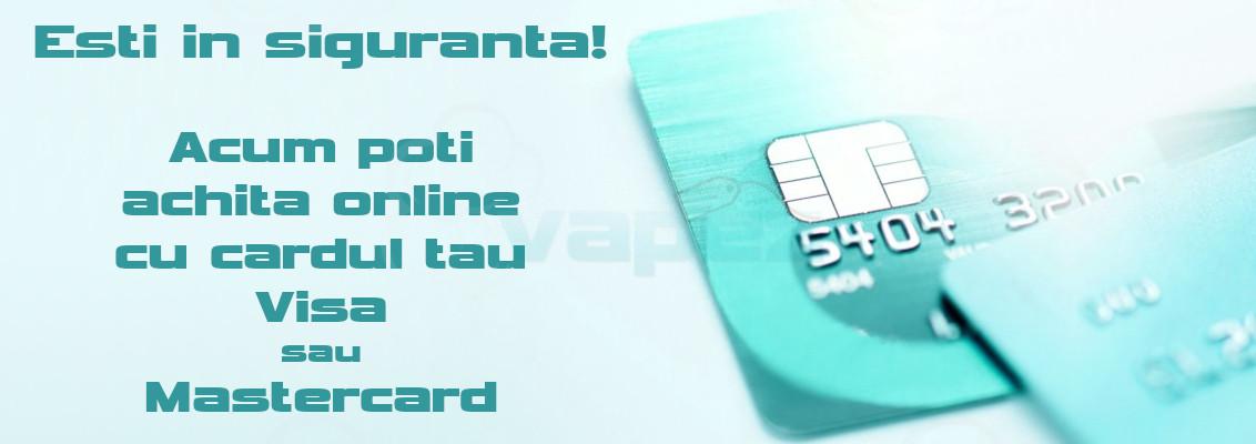 Plata card  este disponibilă!