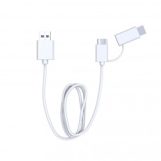 Cablu micro USB/Type C QC alb