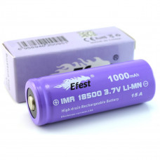 Efest IMR 18500 1000mAh purple